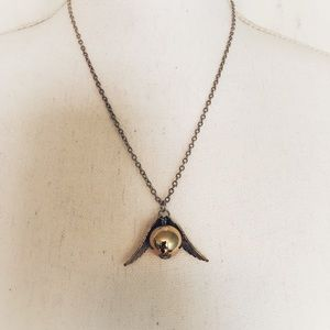 Jewelry - Harry Potter Golden Snitch Necklace NWOT